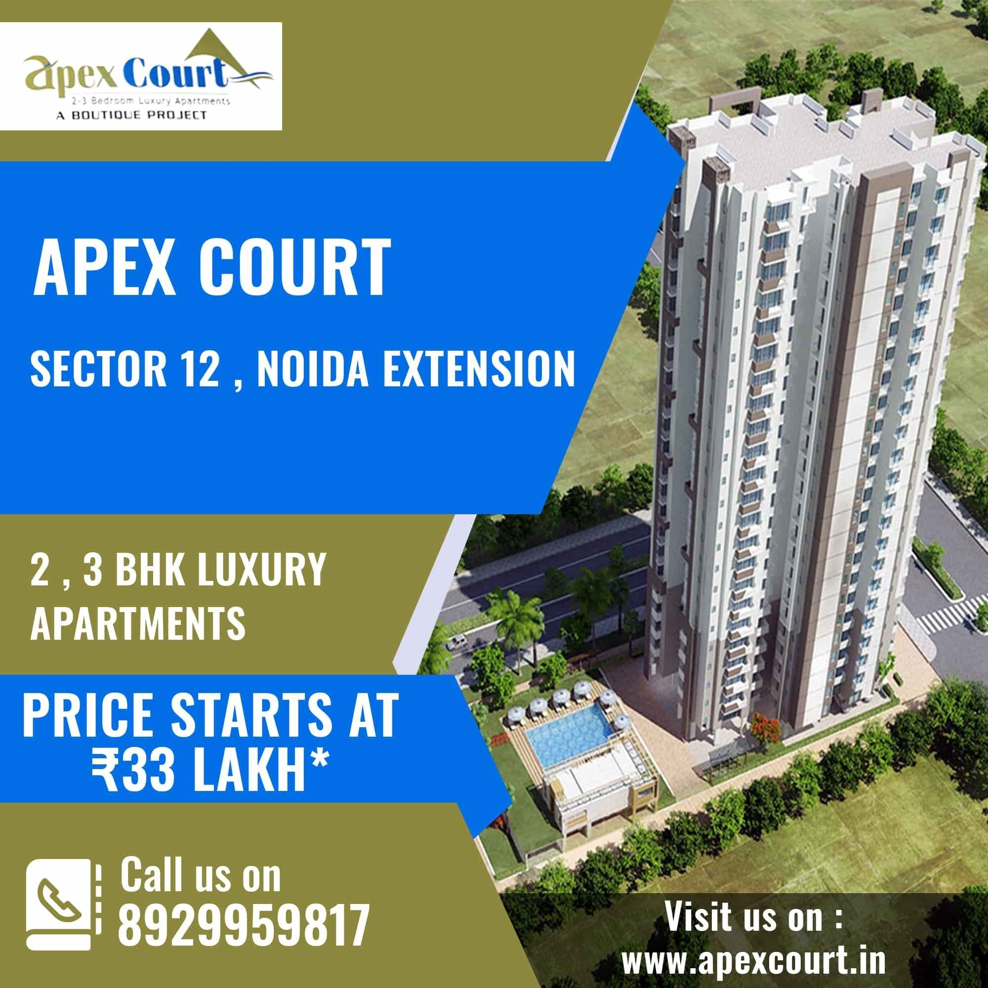 Apex Court In Noida ExtensionReady To Move Apartments 919811088275